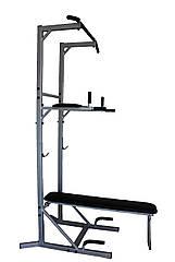 Стійка турнік-бруси, з упорами для жиму лежачи. Гімнастичний комплекс