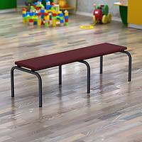 Лавка детского сада с мягким сидньм