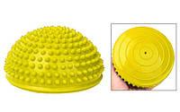 """Полусфера массажная балансировочная """"Balance Kit"""" CS-4939 желтый"""
