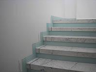 Отделка лестниц стеклом. Киев
