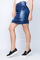 Удобная джинсовая юбка прямого кроя Freedom jeans 22892