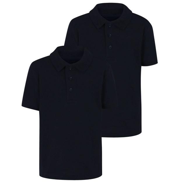 Поло темно-синее с коротким рукавом для мальчиков 10-11-12-13 лет Polo Shirts Navy George (Англия)