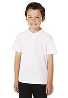 Школьные рубашки-поло белые короткий рукав для мальчиков 5-6-7-8-9-10 лет. George (Англия)
