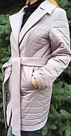 Пальто женское демисезонное с кашемировыми вставками, фото 1