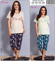 Домашний комплект женский из футболки и капри VIENETTA