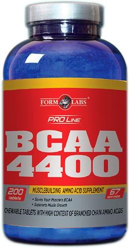 FORM LABS BCAA 4400, 200 tab.