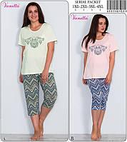 Комплект домашний женский из футболки и капри VIENETTA