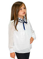 37eb41582a8 Школьная нарядная трикотажная блузка для девочки 122