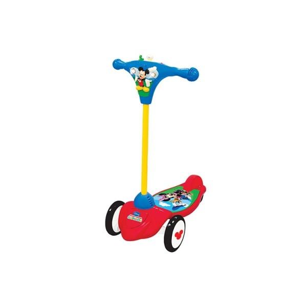 Скутер самокат детский Микки Маус 3 колеса, свет, звук 048512