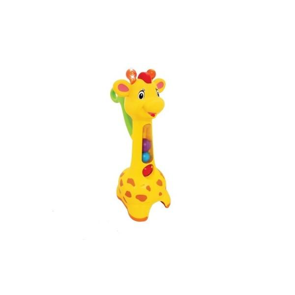 Игрушка-каталка Жираф аккуратный со светом и звуком