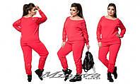 Женский комбинированный спортивный костюм креп-дайвинг + вставки из гипюра размеры:48-54