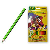 Карандаши цветные  Marco Jumbo Пегашка 12шт + точилка  75435