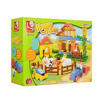 Конструктор для малышей SLUBAN Веселая ферма 68 деталей
