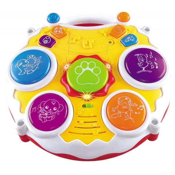 Пианино-барабан 2 в 1 музыкальная игрушка
