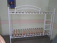 Двухъярусная кровать с ламелями