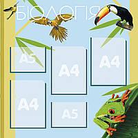 Стенд для кабинета биологии А4-3шт, А5-2 80х80