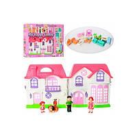 Кукольный дом музыкальный, свет, с куклами, мебелью