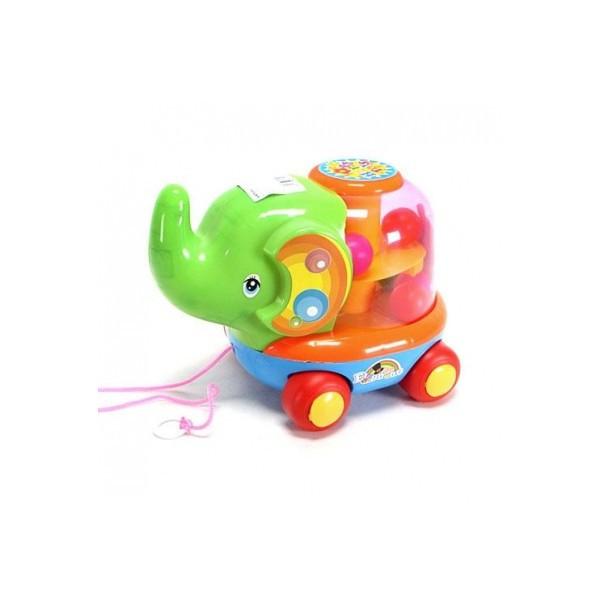 Каталка слоник, юла с шариками