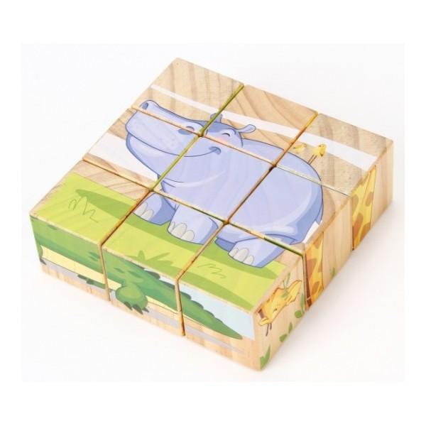 Кубики животные саванны деревянные