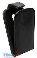 Чехол-книжка для Samsung I8190 черная рептилия Chic-Case