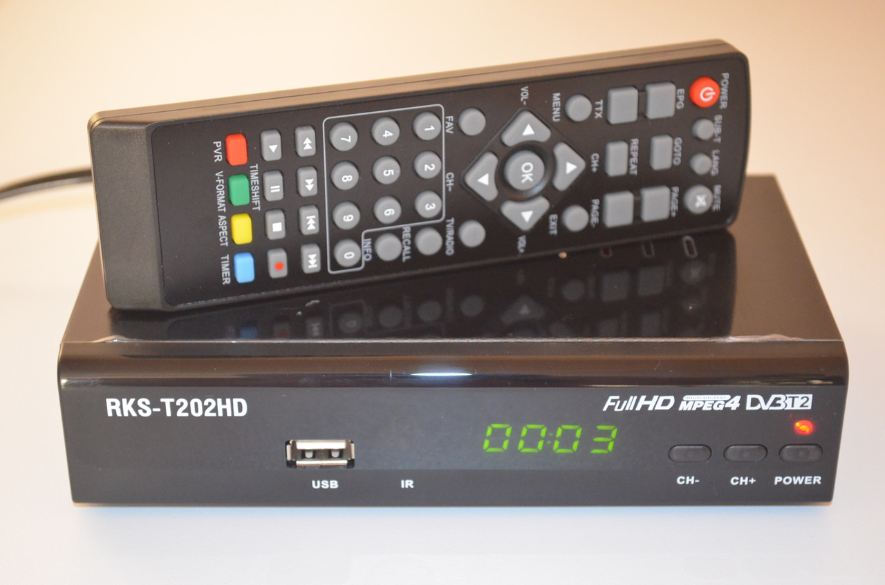 ROKS RKS-T202HD AC3 Dolby Digital - DVB-T2 Тюнер Т2, фото 1
