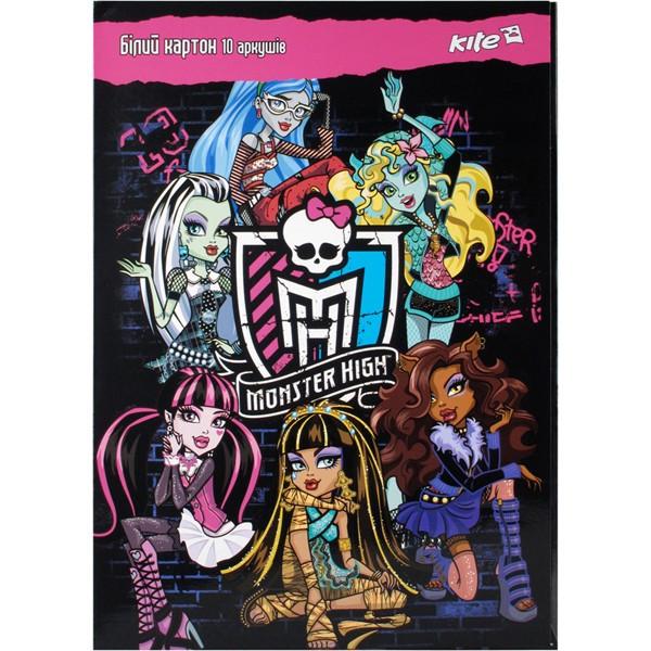 Картон белый двухсторонний Monster High 10 листов