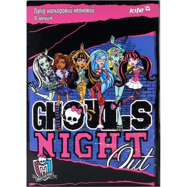 Бумага цветная неон. Monster High