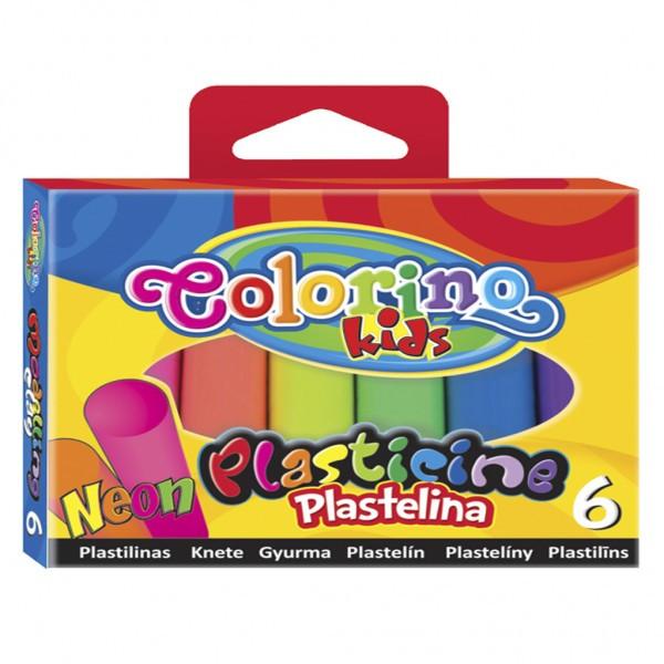 Пластилин Неон 6 цветов 100 гр Colorino