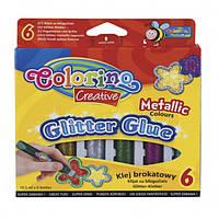 Клей Metallic с блестками 10,5 мл  6 цветов Colorino
