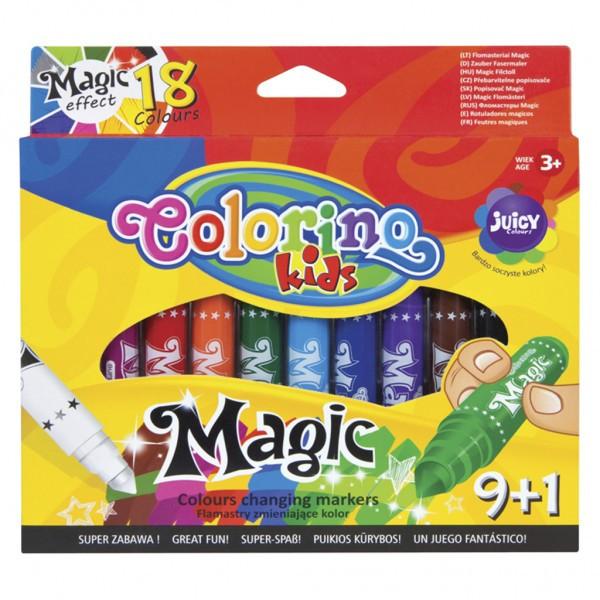 Фломастеры Magic 9 штук, 18 цветов Colorino