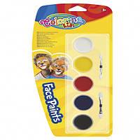 Краски для лица 5  цветов Colorino