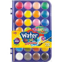 Краски акварельные с кисточкой 28 цветов Colorino