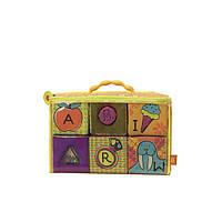 Развивающие мягкие кубики-сортеры ABC (6 кубиков, в сумочке)