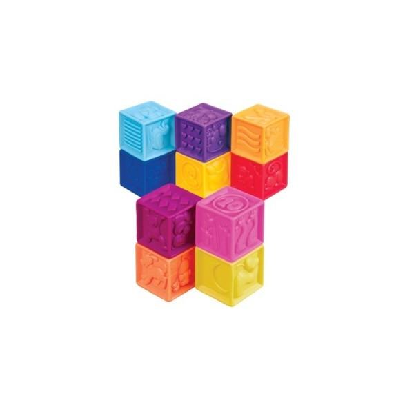 Развивающие силиконовые кубики- Посчитай-ка (10 кубиков в сумочке) BX1002Z