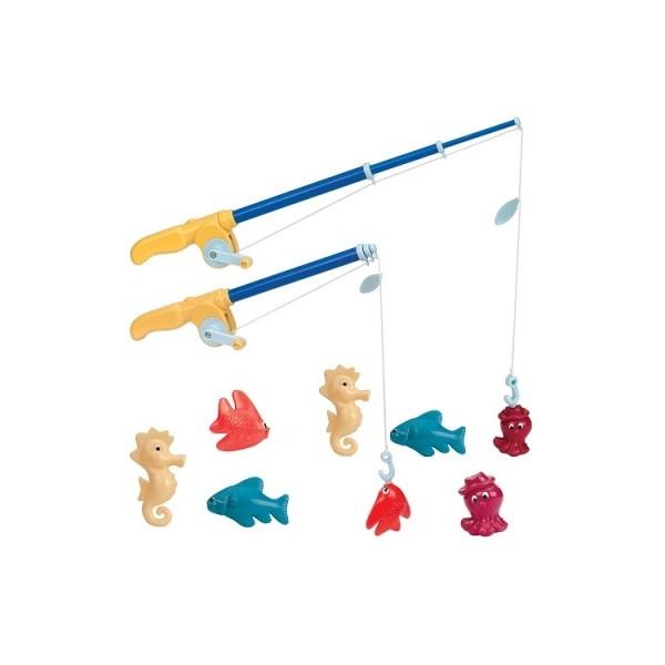 Игровой набор Магнитная рыбалка Де люкс 2 удочки, 8 морских животных