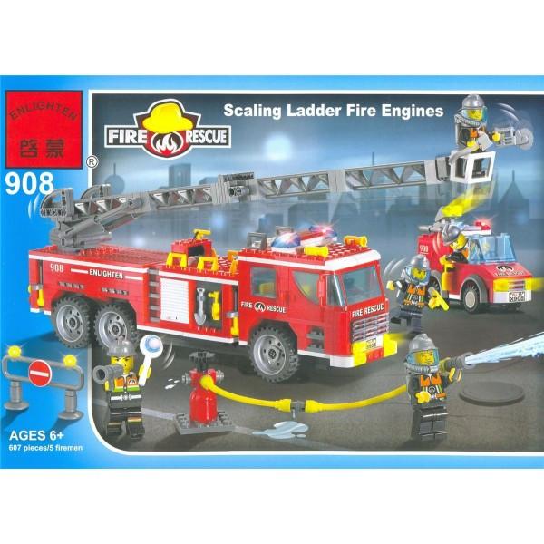 Конструктор Brick Пожарная охрана 607 деталей