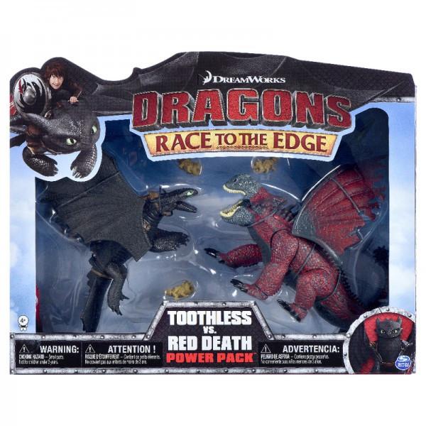 Как приручить дракона: набор из двух драконов Битва Беззубика с красной смертью
