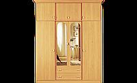 Шкаф для одежды в спальню распашной с верхними антресолями, размер 225х60х180 см модель Рита