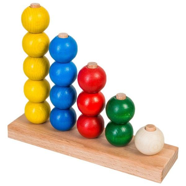 Пирамидка шарики для счета развивающая деревянная игрушка