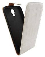 Чехол-книжка для Samsung I9200 белый с силиконом