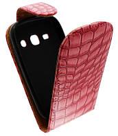 Чехол-книжка для Samsung S6810 /К39 розовая с силиконом