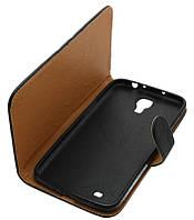 Чехол-книжка для Samsung I9200 черная боковая с силиконом