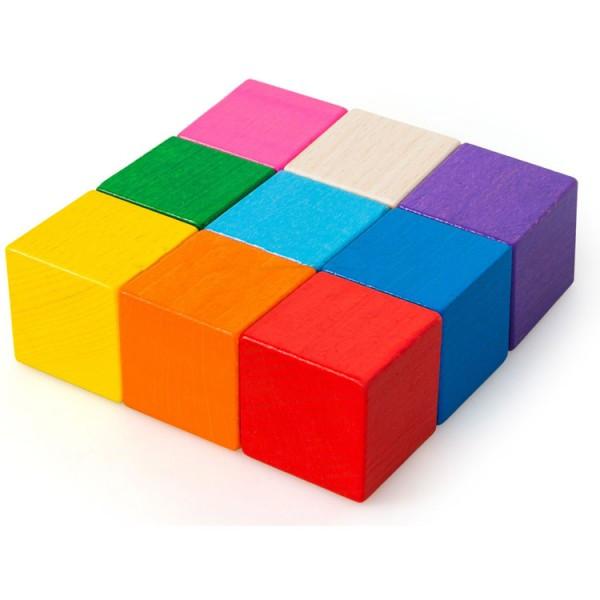 Кубики 9 штук развивающая деревянная игрушка