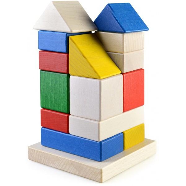 Конструктор пирамидка Башня развивающая деревянная игрушка
