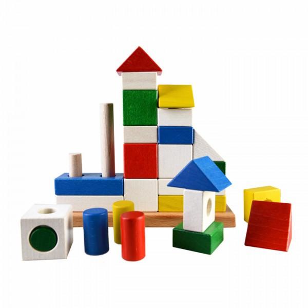 Конструктор пирамидка Замок развивающая деревянная игрушка