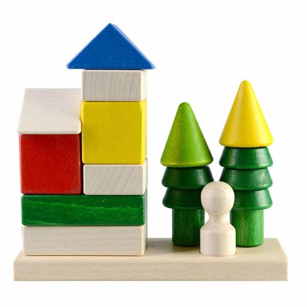 Конструктор пирамидка Домик в лесу развивающая деревянная игрушка