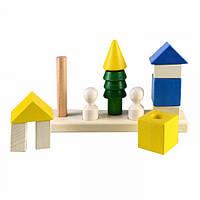 Конструктор пирамидка Соседи развивающая деревянная игрушка