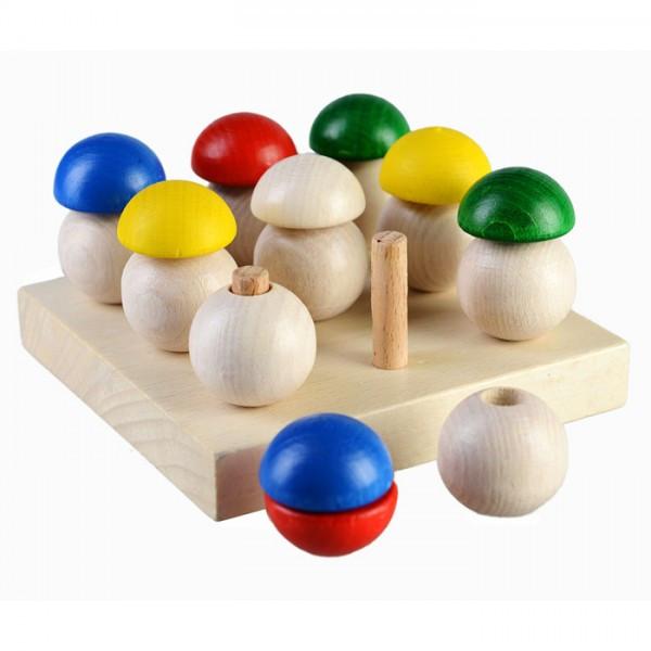 Грибная поляна развивающая деревянная игрушка