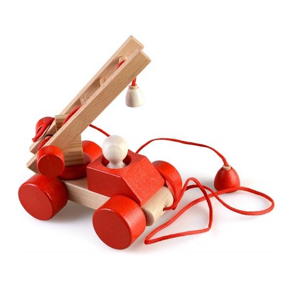 Пожарная машина каталка развивающая деревянная игрушка