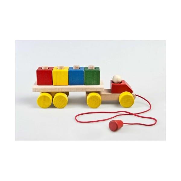Грузовик большой развивающая деревянная игрушка